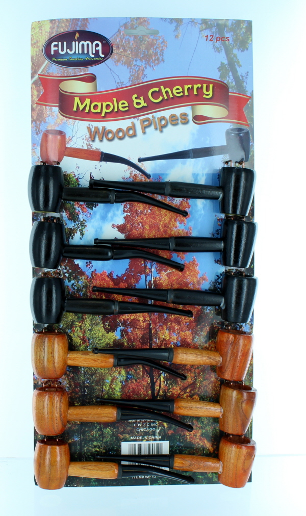 CHERRY & MAPLE WOODEN PIPE