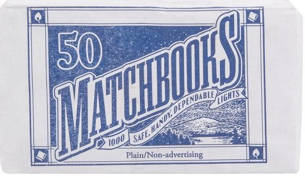 D.D.BEAN SAFETY BOOK MATCHES 50'S