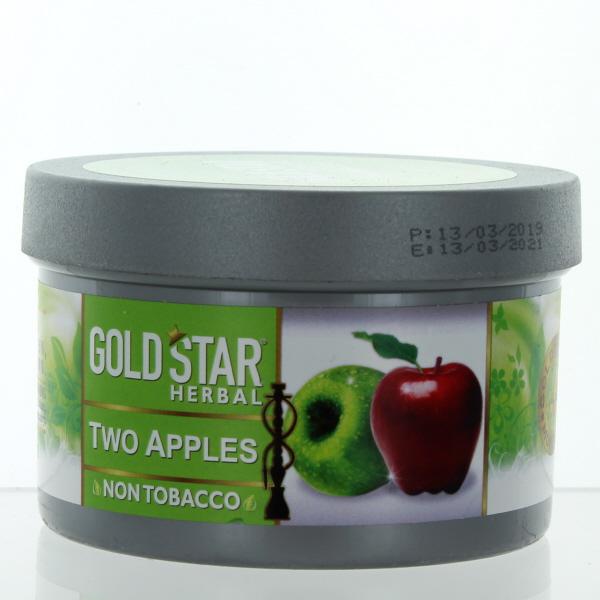 GOLD STAR HOOKAH HERBAL 200GM/7.05OZ *TWO APPLE*
