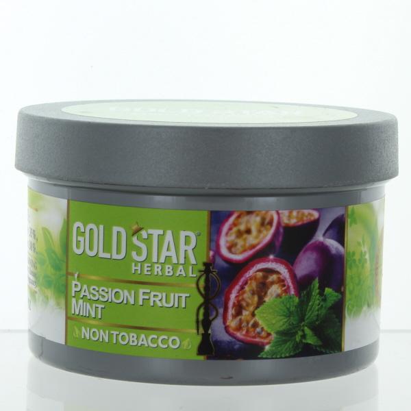 GOLD STAR HOOKAH HERBAL 200GM/7.05OZ *PASSION FRUIT MINT*