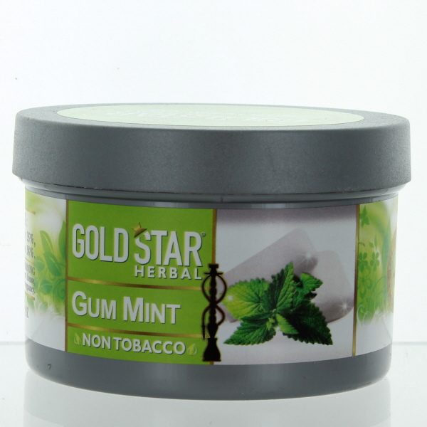 GOLD STAR HOOKAH HERBAL 200GM/7.05OZ *GUM MINT*