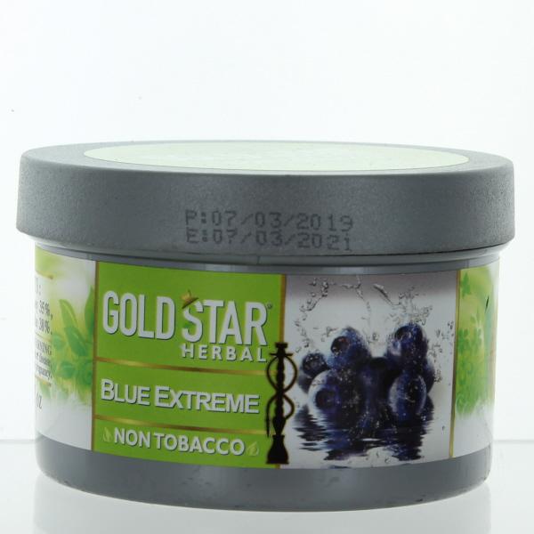 GOLD STAR HOOKAH HERBAL 200GM/7.05OZ *BLUE EXTREME*