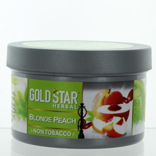 GOLD STAR HOOKAH HERBAL 200GM/7.05OZ *BLONDE PEACH*