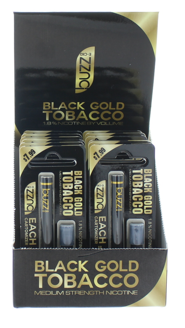 BUZZ E-CIG. CART. 1.8% 6'S 36ML/BX *BLACK GOLD TOBACCO*