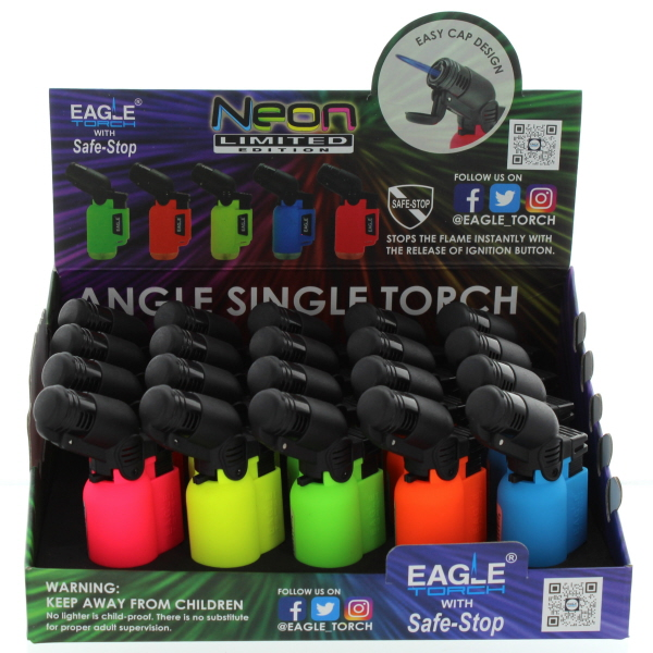 EAGLE TORCH LIGHTER ANGLE TORCH *NEON* #PT116BN