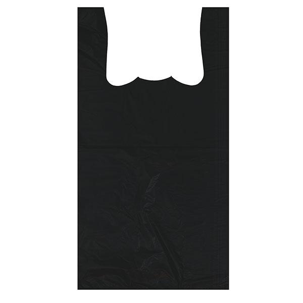 CARRY BAG-SILVER 1/6 11.5X6.5X21.5 17MIC WARNING *BLACK* 500/BX