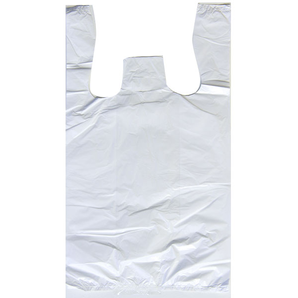 CARRY BAG-SILVER 1/10 8X4X15 12MIC WARNING *WHITE* 1500/BX