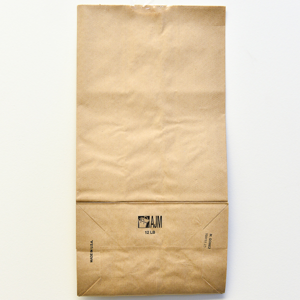 PAPER BAG BROWN #12 500/PK