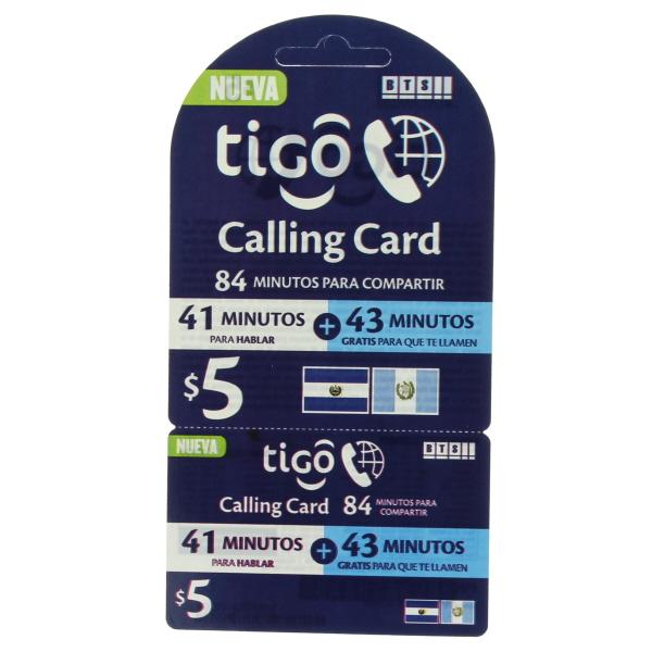 TIGO GUATE-SALVADOR $5