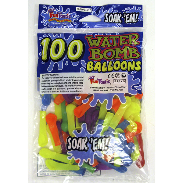 WATER BOMB BALLOONS 100'S
