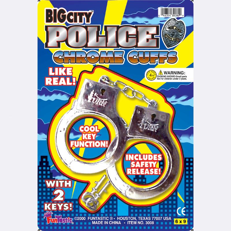 POLICE CHROME CUFFS