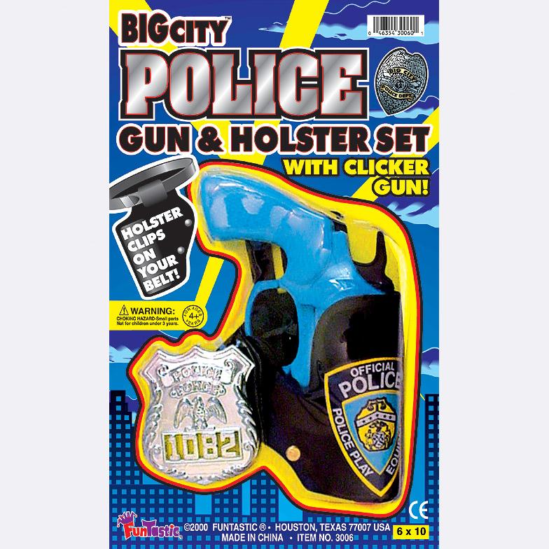 POLICE GUN & HOLSTER SET
