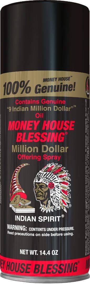 MONEY HOUSE BLESSING INCENSE SPRAY 14.4OZ *MILLION DOLLAR*
