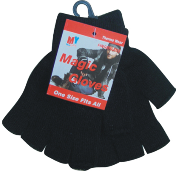 WINTER GLOVE MAGIC *BLACK FINGERLESS* #26112