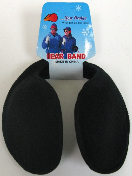 WINTER EAR MUFFS *BLACK* #26016