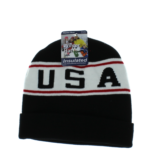 WINTER CAP USA *ASST. COLORS* #24169