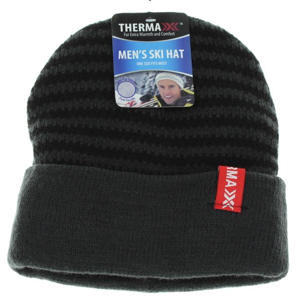 WINTER CAP EXTRA THICK W/FAUX FUR *STRIPES* #10003
