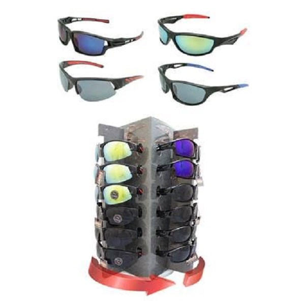 SUNGLASSES 36CT DS. *SPORTS RUBBER TIP*