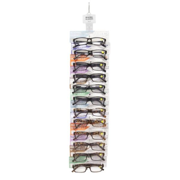 READING GLASSES 36CT 3X12CT CLIPSTRIP