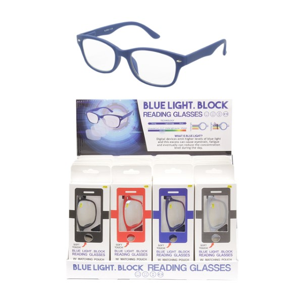 READING GLASSES 12CT DS *BLUE LIGHT*