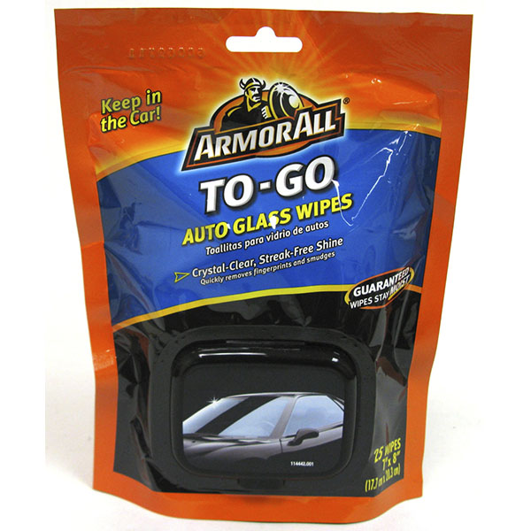ARMOR ALL CLEANING WIPES 25'S SOFT PK.*TO-GO GLASS*