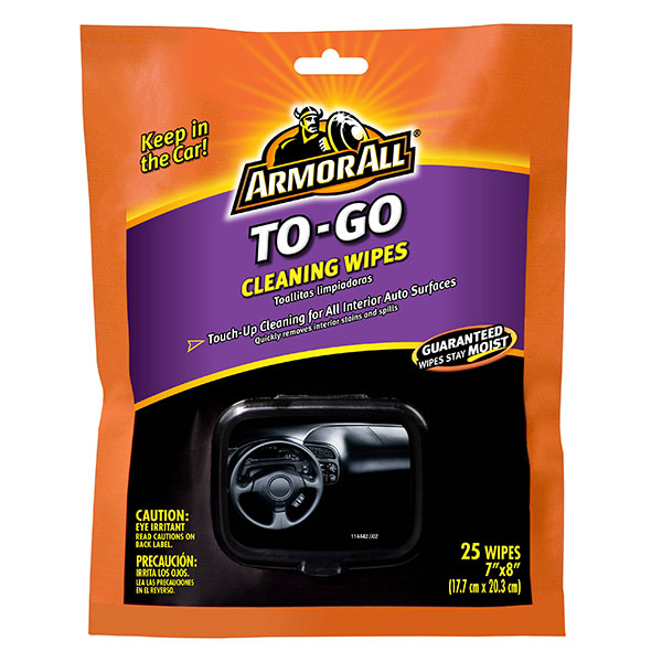 ARMOR ALL CLEANING WIPES 25'S SOFT PK *TO-GO*