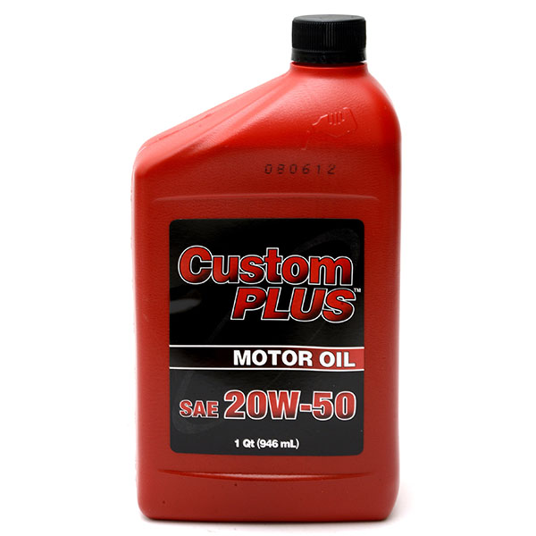CUSTOM PLUS ECONOMY MOTOR OIL 1QT *20W50*