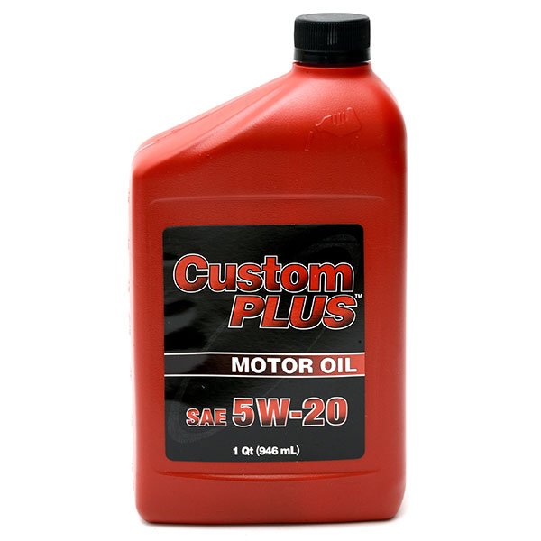 CUSTOM PLUS ECONOMY MOTOR OIL 1QT *5W20*