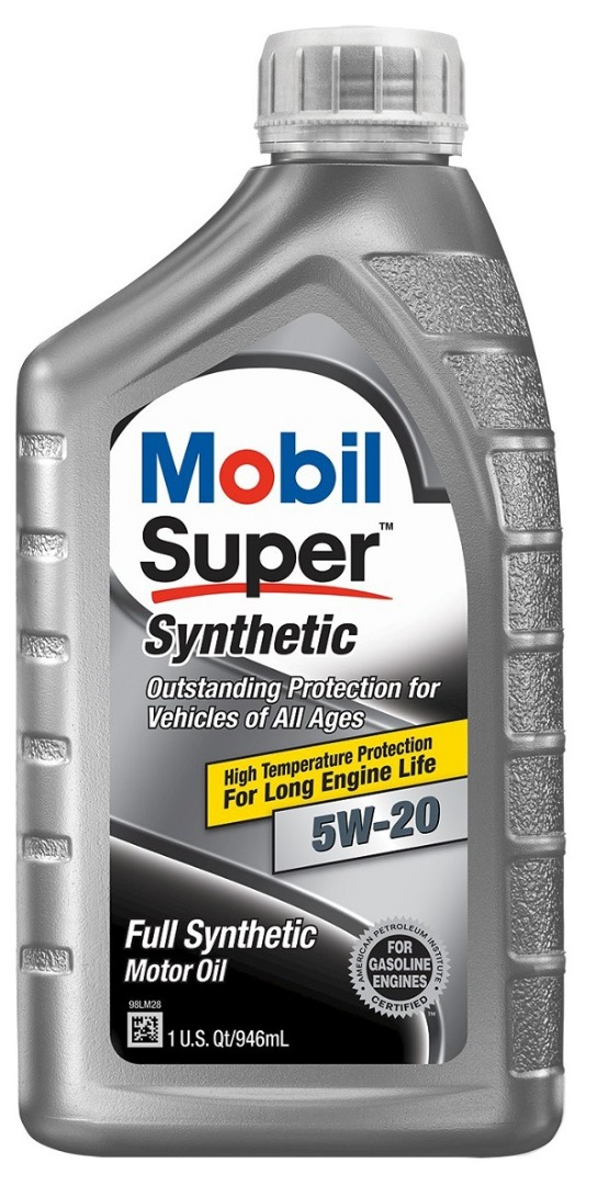 MOBIL SUPER SYNTHETIC MOTOR OIL 1QT *5W20*