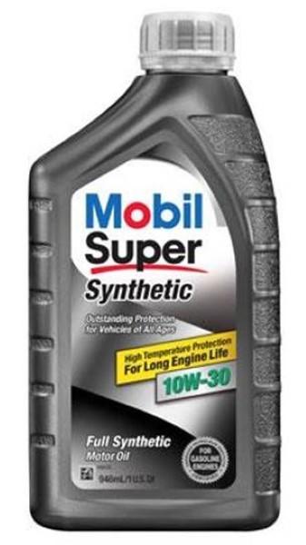 MOBIL SUPER SYNTHETIC MOTOR OIL 1QT *10W30*
