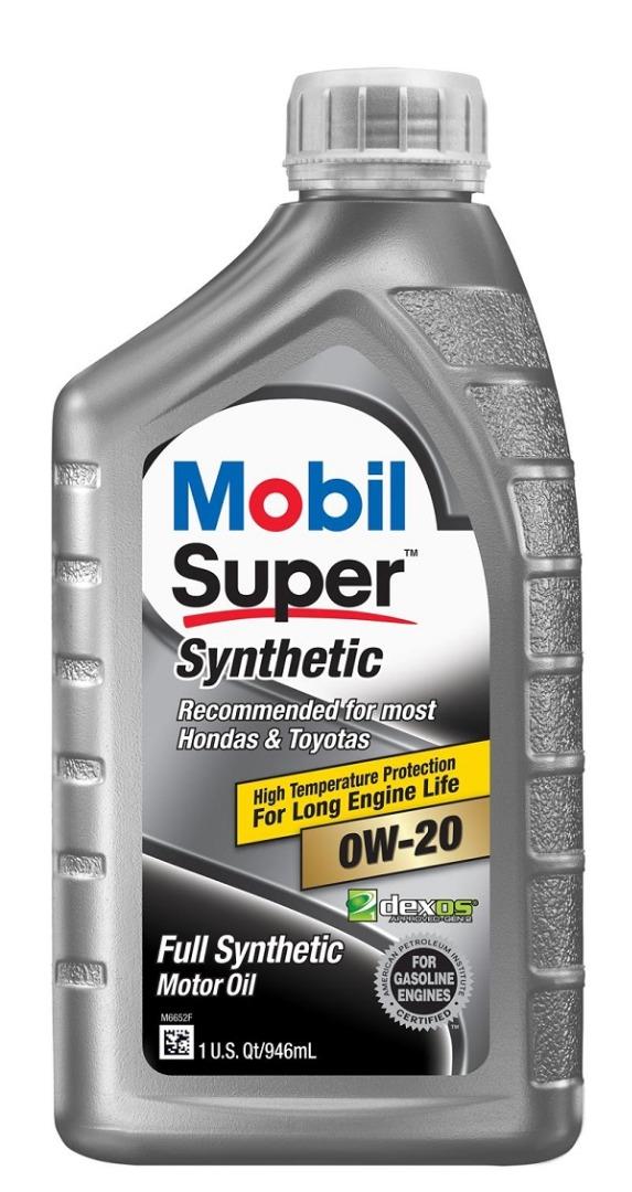 MOBIL SUPER SYNTHETIC MOTOR OIL 1QT *0W20*