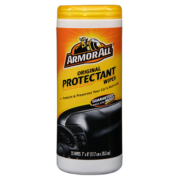 ARMOR ALL PROTECTANT WIPES 25'S JAR