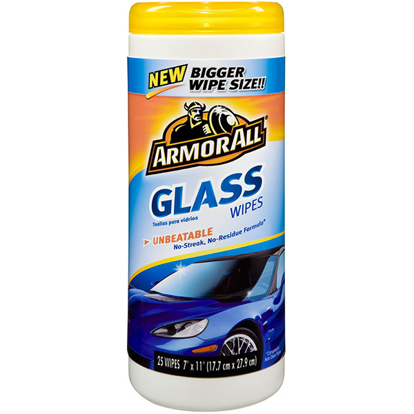 ARMOR ALL CLEANING WIPES 25'S JAR *GLASS*