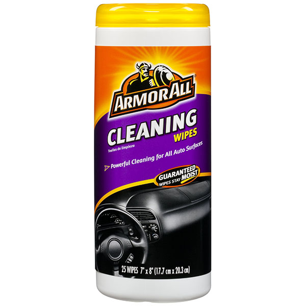 ARMOR ALL CLEANING WIPES 25'S JAR