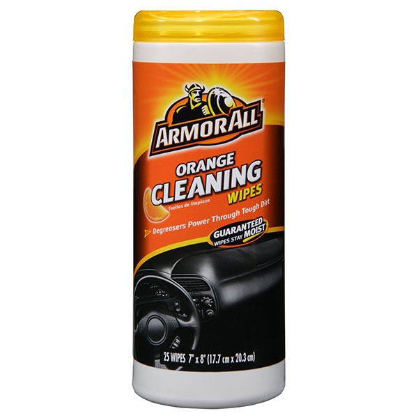 ARMOR ALL CLEANING WIPES 25'S JAR *ORANGE*