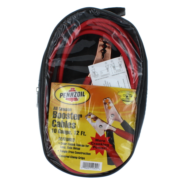 PENNZOIL BOOSTER CABLE W/CASE 10 GAUGE 12FT
