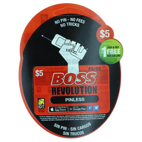 BOSS REVOLUTION PA/DE $5