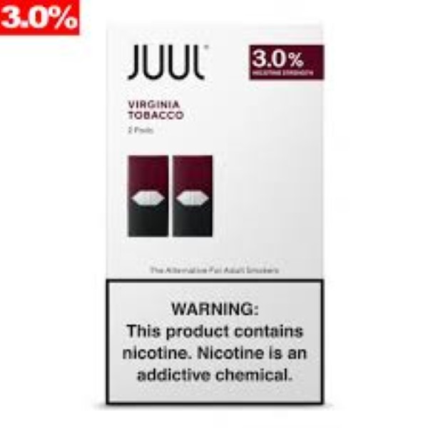 JUUL PODS 2'S 3% 11.2ML/BX *VIRGINIA TOBACCO*