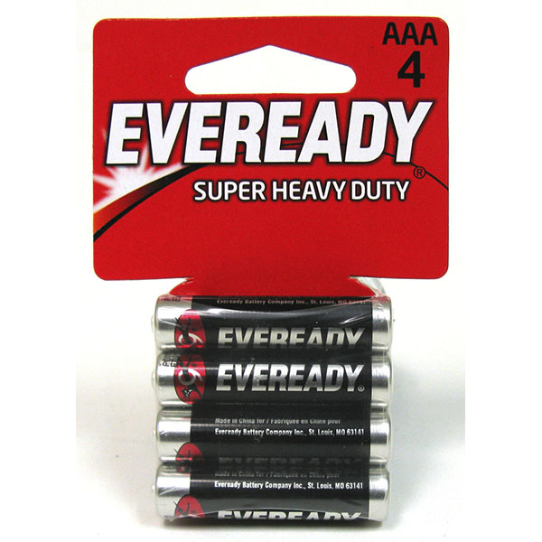 EVEREADY HEAVY DUTY BATTERY AAA 4'S