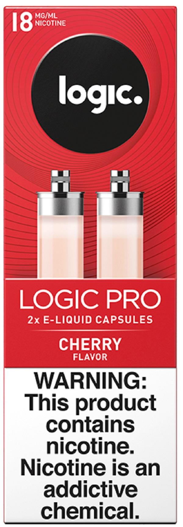 LOGIC PRO VAPE CAPS 18MG. 2'S 30ML/BX *CHERRY*