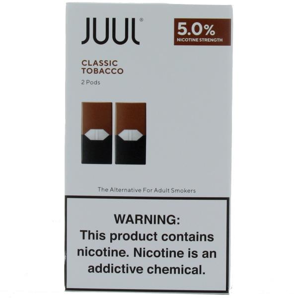 JUUL PODS 2'S 5% 11.2ML/BX *CLASSIC TOBACCO*