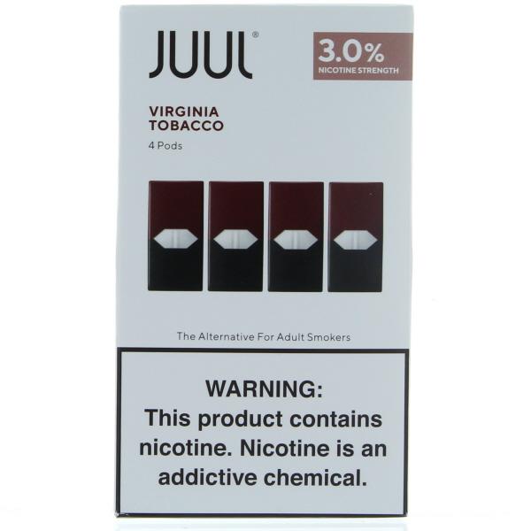 JUUL PODS 4'S 3% 22.4ML/BX *VIRGINIA TOBACCO*
