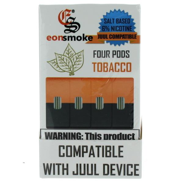 EONSMOKE PODS 6% 4'S 20ML/BX *TOBACCO*