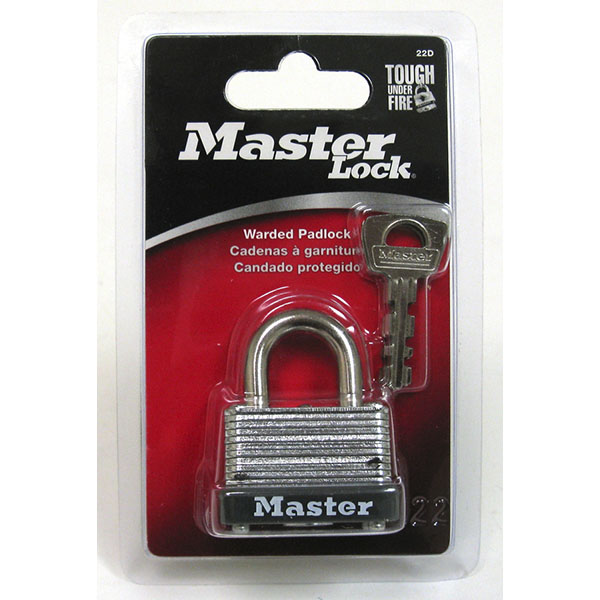 MASTER LOCK WARDED PADLOCK 1-1/2