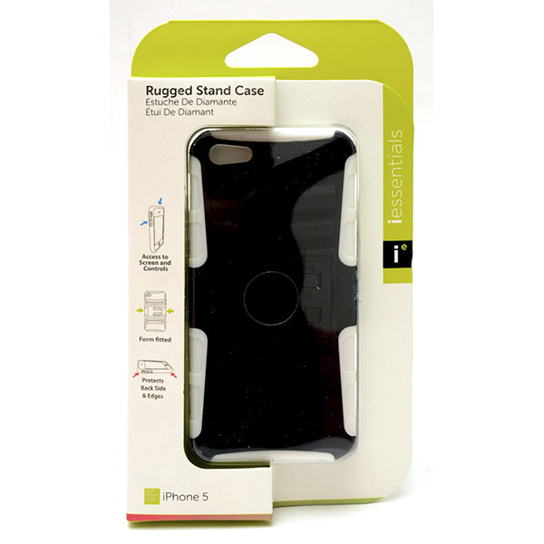 PHONE CASE I-PHONE 5 RUGGED STAND *WHITE* #IPH5-RGS-WT