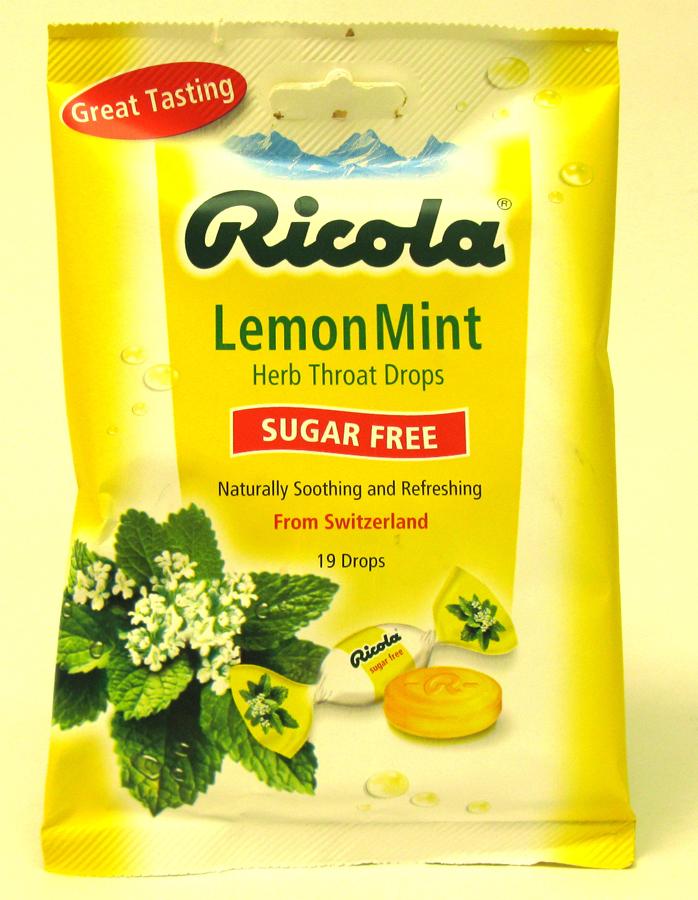 RICOLA BAGS SUGAR FREE 19'S *LEMON MINT*