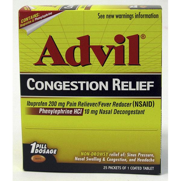ADVIL SINUS CONGESTION & PAIN POUCH 1'S 50CT