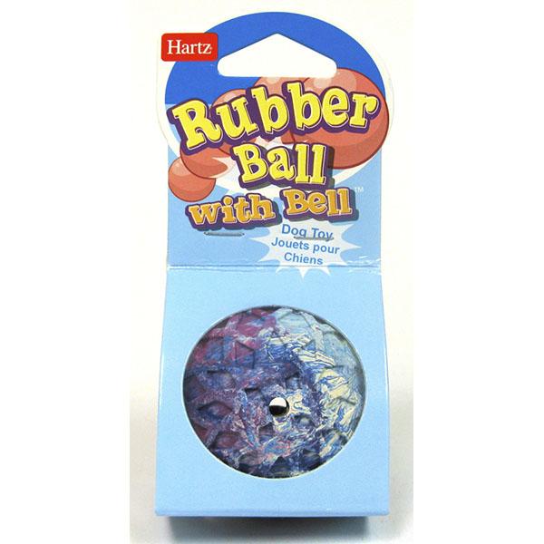 HARTZ TOY DOG RUBBER BALL W/BELL