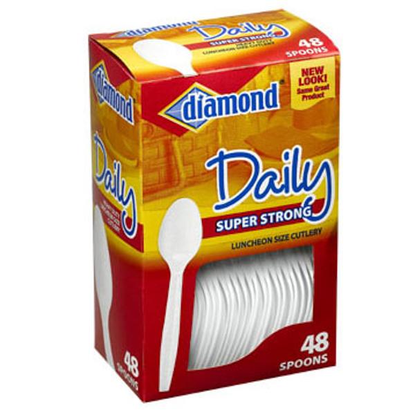 DIAMOND DAILY PLASTIC CUTLERY 48'S *SPOONS*