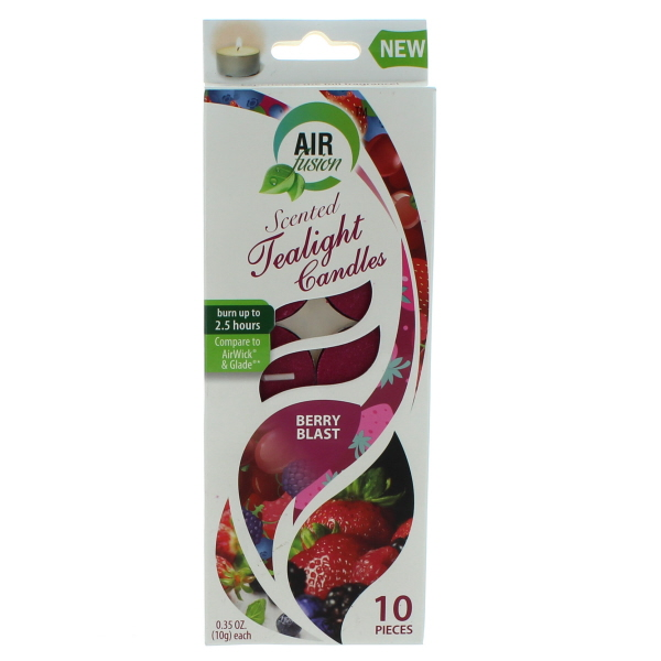 AIR FUSION SCENTED TEALIGHT CANDLES 10'S *BERRY BLAST*